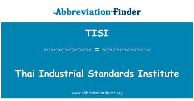 TISI: Thai Industrial Standards Institute