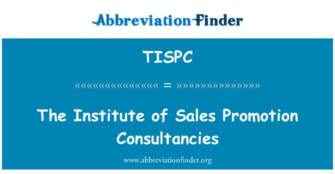 TISPC: The Institute of Sales Promotion Consultancies