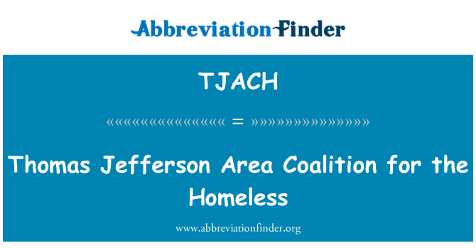 TJACH: Thomas Jefferson Area Coalition for the Homeless