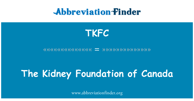 TKFC: The Kidney Foundation of Canada