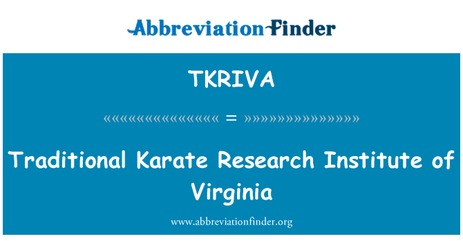 TKRIVA: Traditional Karate Research Institute of Virginia