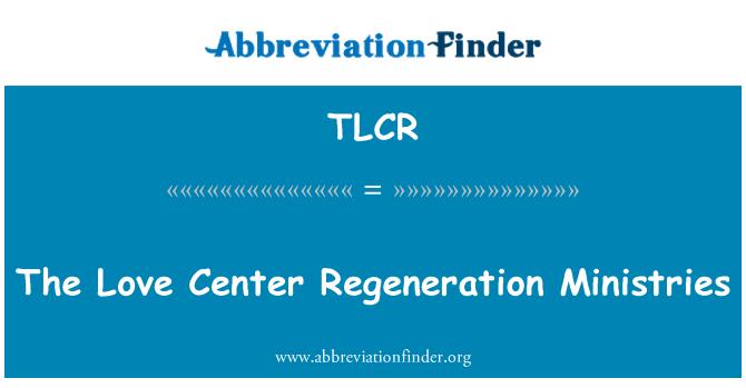TLCR: Ministerstva lásky centrum regenerace