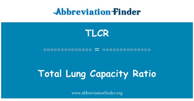 TLCR: Kapacitní poměr celkové plicní