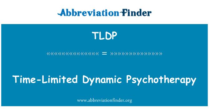 TLDP: 时间有限动态心理治疗