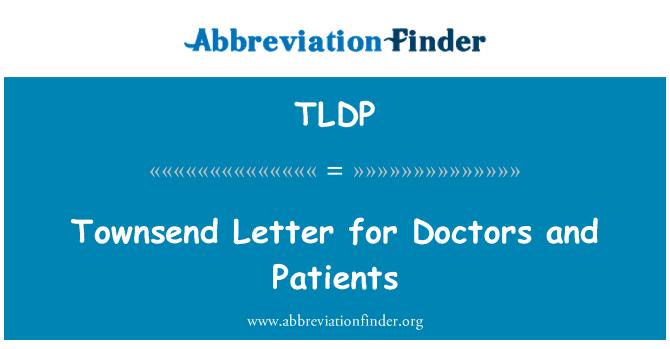 TLDP: 汤森信为医生和病人