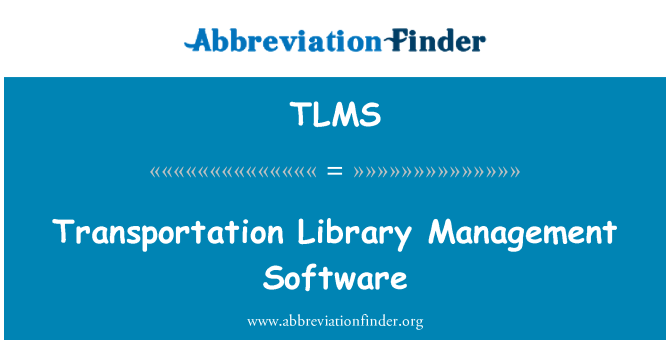 TLMS: Transportation Library Management Software