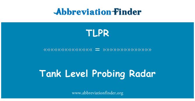 TLPR: Tank seviye radar algılama