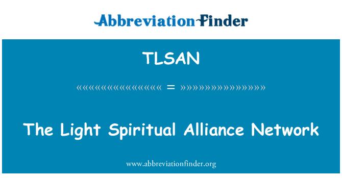 TLSAN: The Light Spiritual Alliance Network