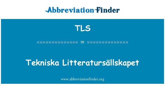 TLS: Tekniska Litteratursällskapet