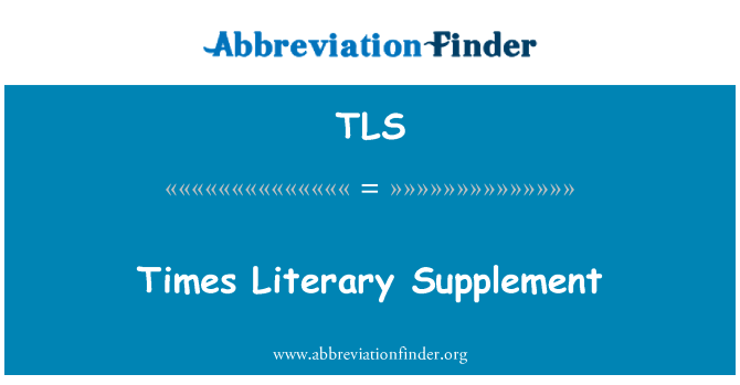 TLS: Times Literary Supplement