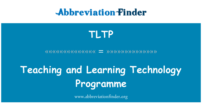 TLTP: Teaching and Learning Technology Programme