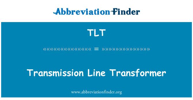 TLT: Transmission Line Transformer