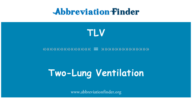 TLV: Two-Lung Ventilation