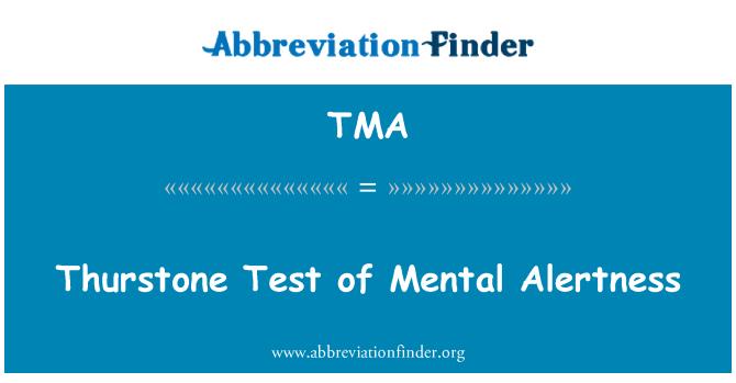 TMA: Thurstone Test of Mental Alertness