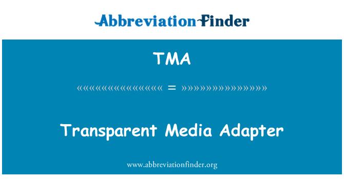 TMA: Transparent Media Adapter