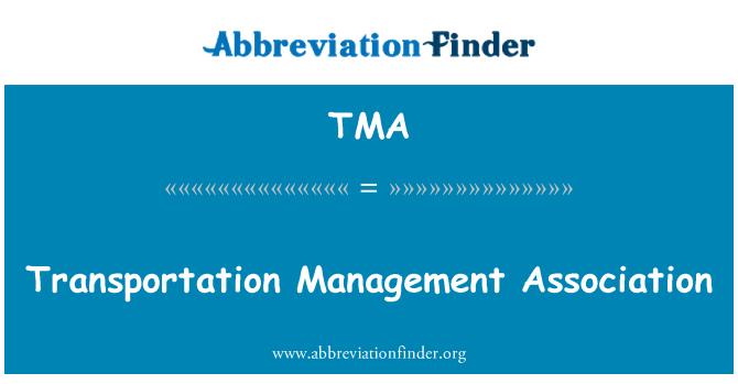 TMA: Transportation Management Association