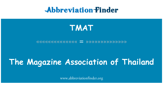 TMAT: The Magazine Association of Thailand