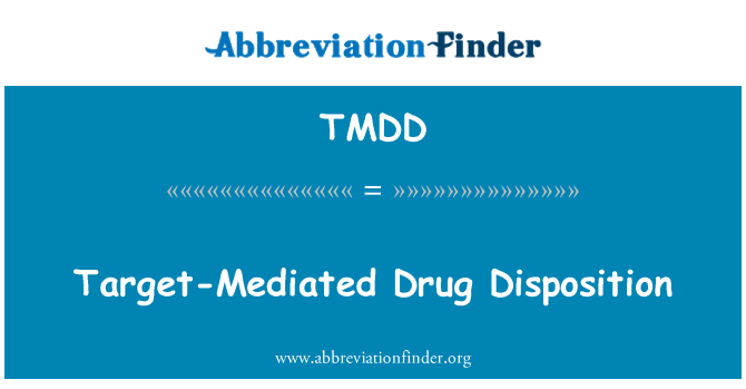 TMDD: Disposición de fármaco mediada por destino