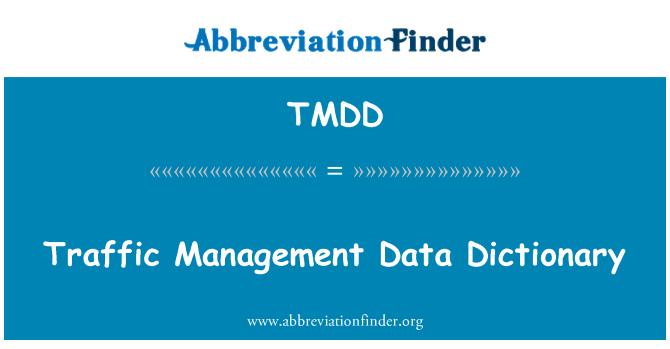 TMDD: Diccionario de datos de gestión de tráfico