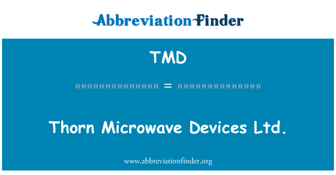 TMD: Thorn Microwave Devices Ltd.