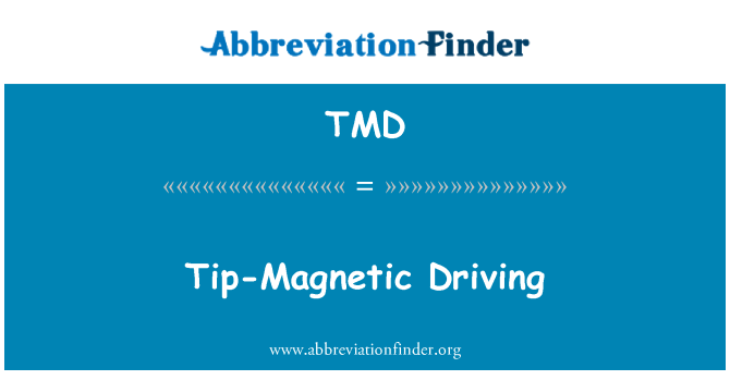 TMD: Tip-Magnetic Driving
