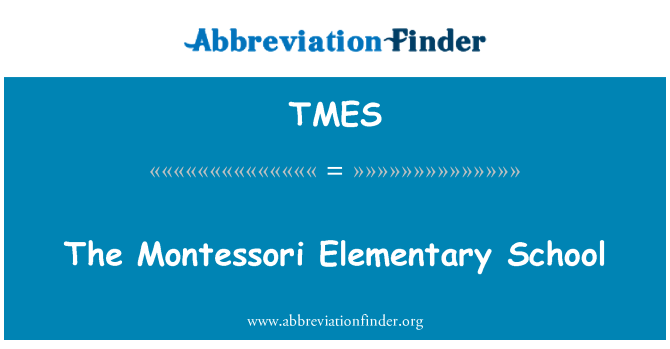 TMES: The Montessori Elementary School