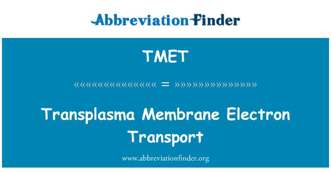 TMET: Transplasma Membrane Electron Transport