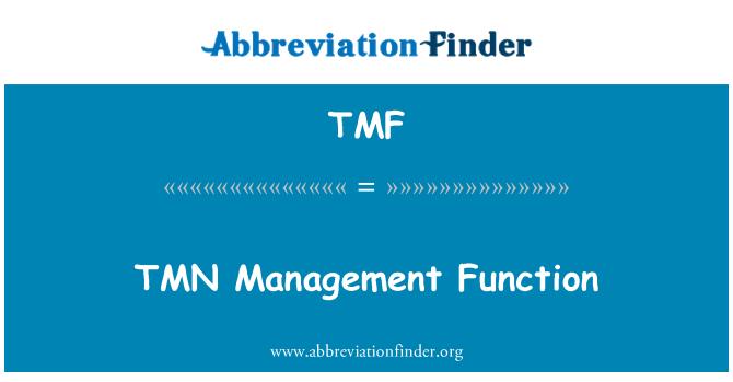 TMF: TMN Management Function