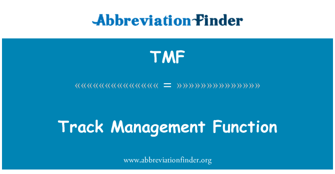 TMF: Track Management Function