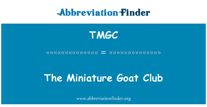 TMGC: El Club de cabra en miniatura