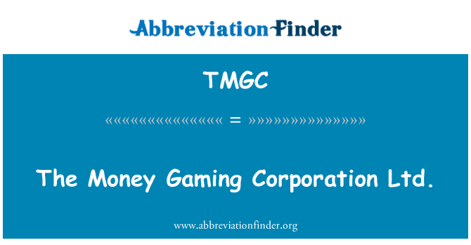 TMGC: The Money Gaming Corporation Ltd.