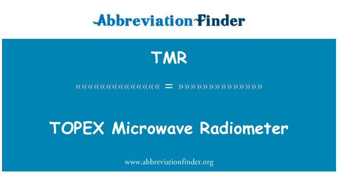 TMR: TOPEX Microwave Radiometer