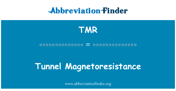 TMR: Tunnel Magnetoresistance