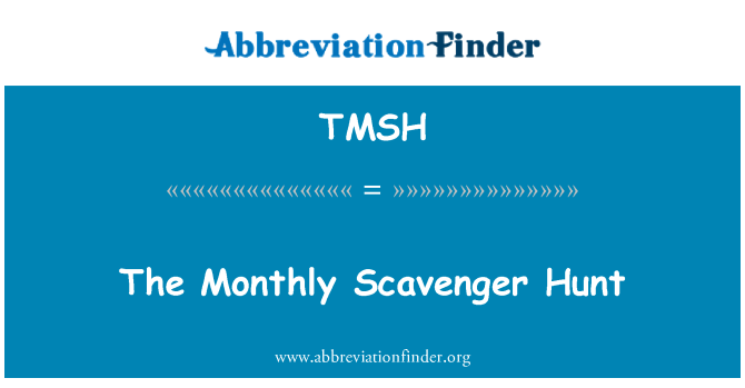 TMSH: The Monthly Scavenger Hunt