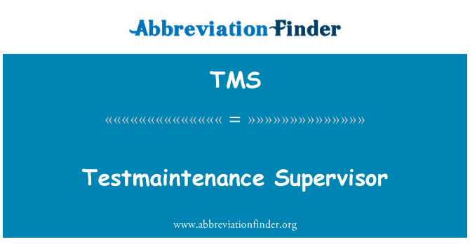 TMS: Penyelia Testmaintenance