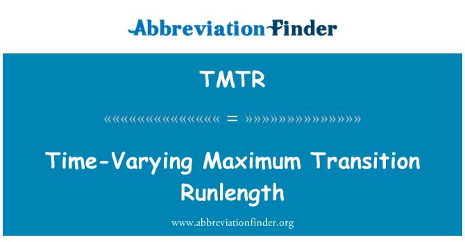 TMTR: Time-Varying Maximum Transition Runlength