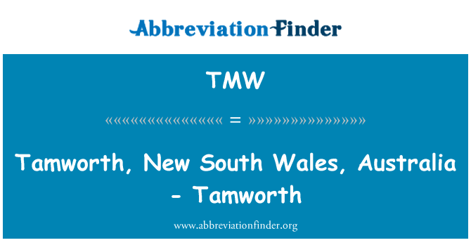 TMW: Tamworth, New South Wales, Australia - Tamworth