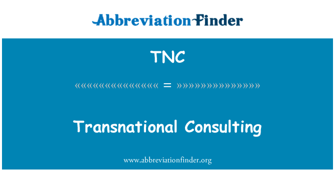 TNC: Transnational Consulting