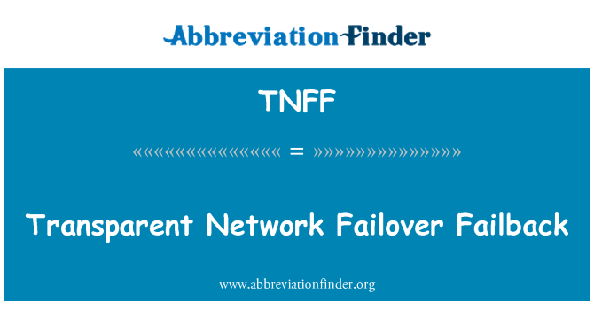 TNFF: Transparent Network Failover Failback