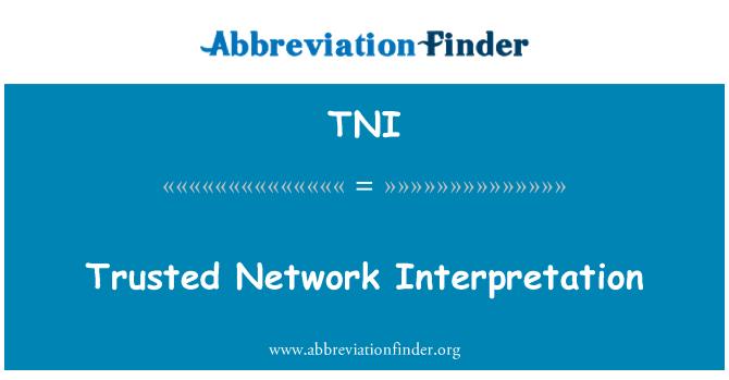 TNI: Trusted Network Interpretation