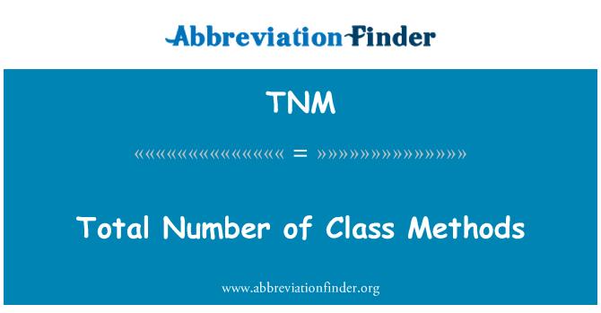 TNM: Total Number of Class Methods