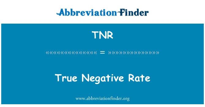 TNR: True Negative Rate