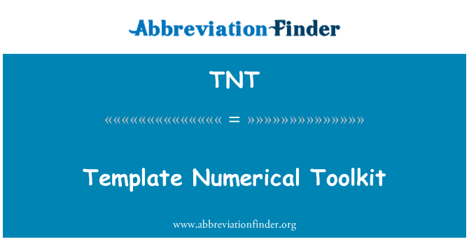 TNT: Template Numerical Toolkit