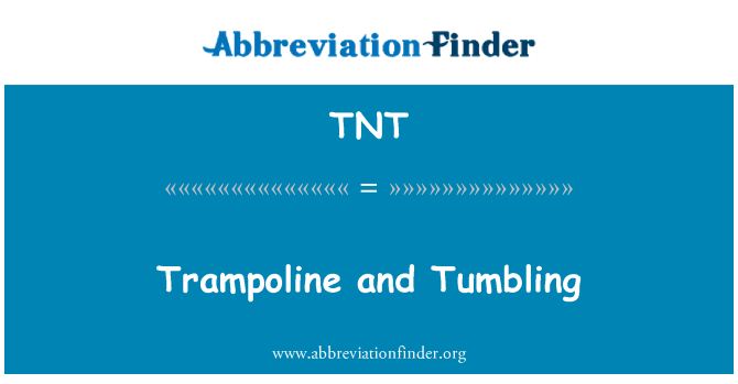 TNT: Trampoline and Tumbling