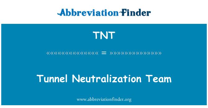 TNT: Tunnel Neutralization Team