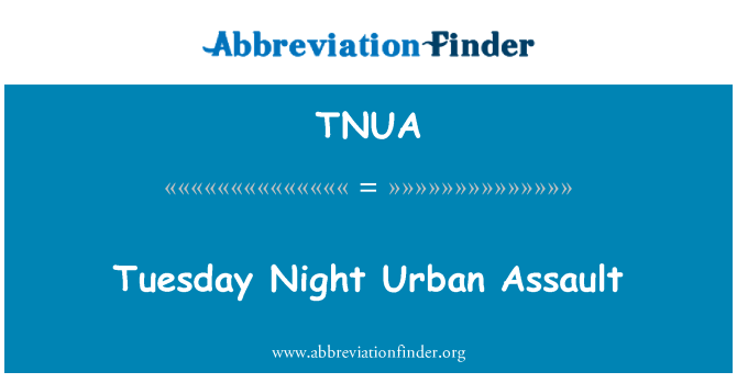 TNUA: U utorak navečer urbane napad