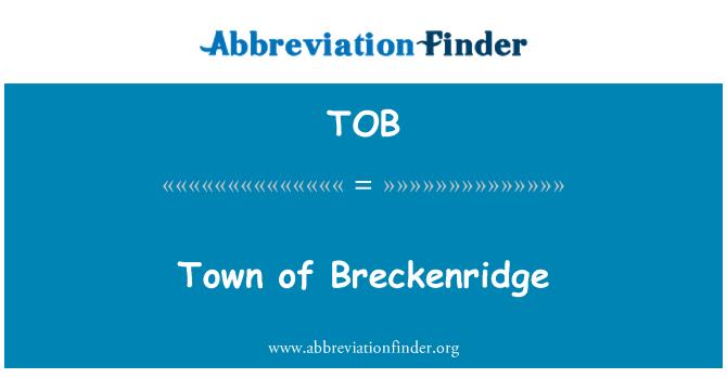 TOB: Town of Breckenridge