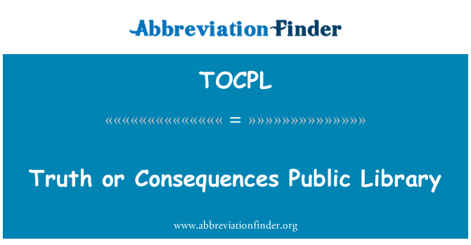 TOCPL: Truth or Consequences Public Library