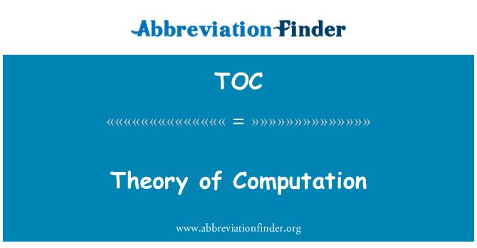 TOC: Theory of Computation