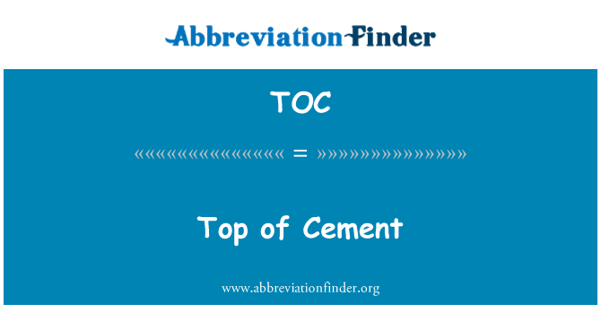 TOC: Top of Cement